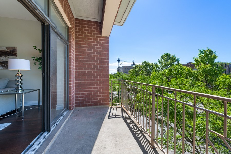 Real Estate Photography - 3300 W Irving Park Rd, Unit 3H, Chicago, IL, 60618 - Balcony