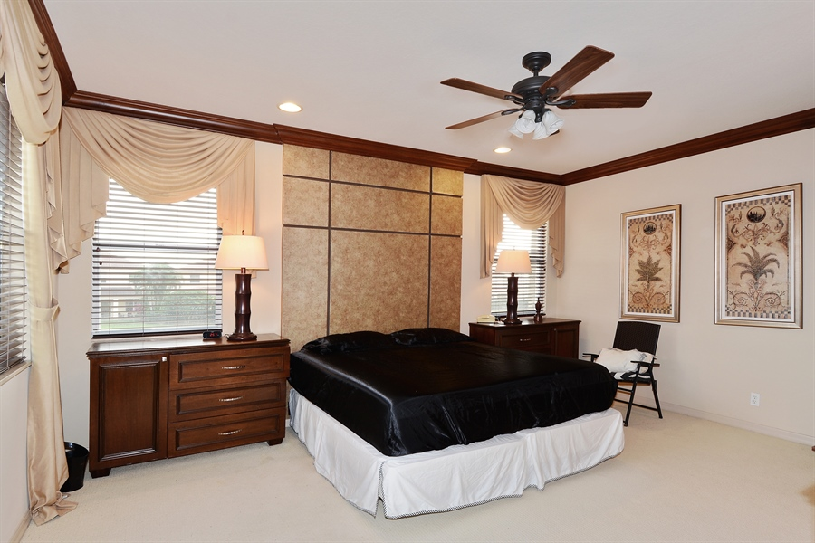 Real Estate Photography - 115 Isle Verde, Palm Beach Gardens, FL, 33418 - Master Bedroom