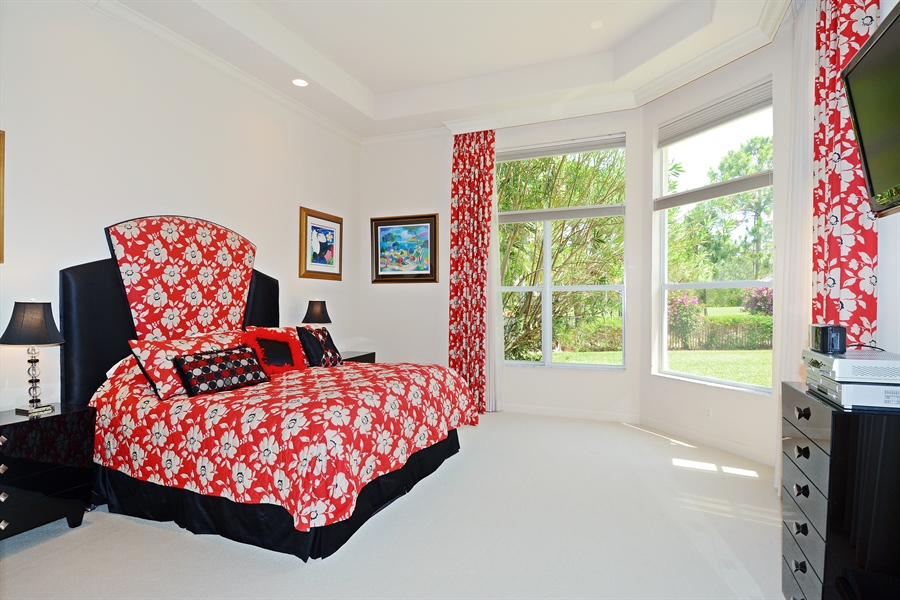 Real Estate Photography - 293 Porto Vecchio, Palm Beach Gardens, FL, 33418 - Master Bedroom