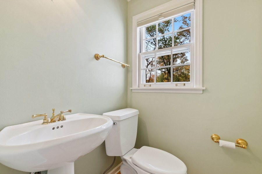 Real Estate Photography - 1108 Forest Hill, Lake Forest, IL, 60045 - Powder Room