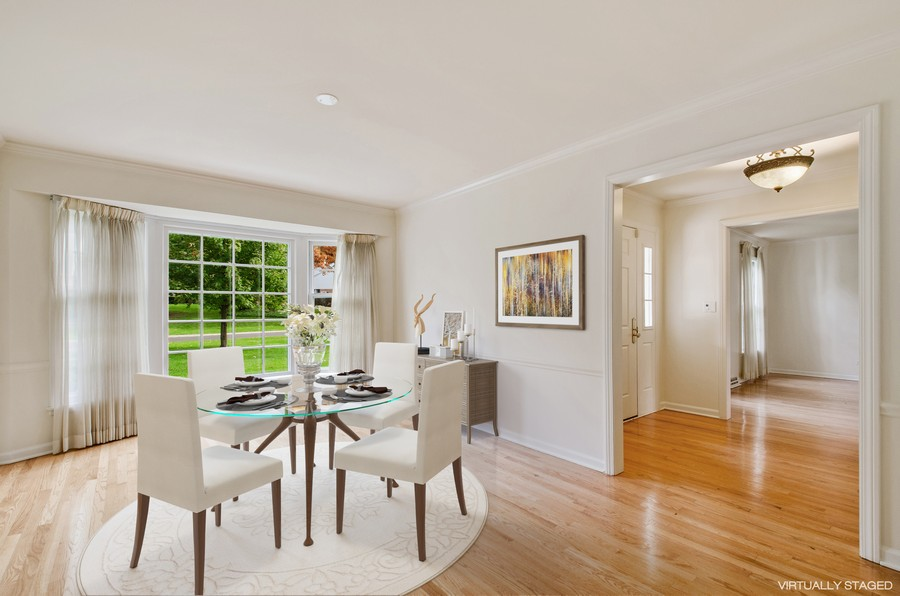 Real Estate Photography - 1108 Forest Hill, Lake Forest, IL, 60045 - Dining Room