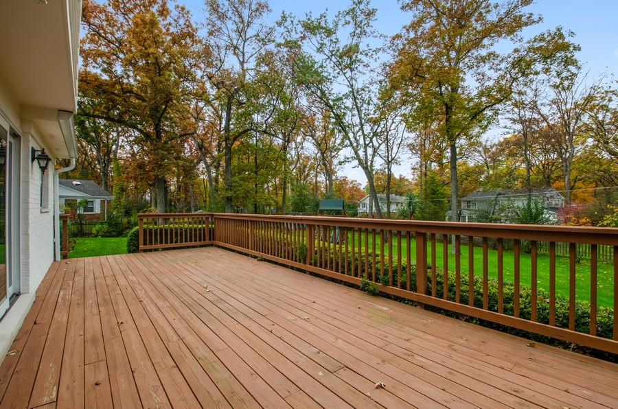 Real Estate Photography - 1108 Forest Hill, Lake Forest, IL, 60045 - Deck
