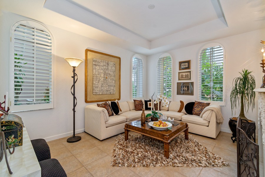 Real Estate Photography - 6609 NW 128 Way, Parkland, FL, 33076 - Living Room