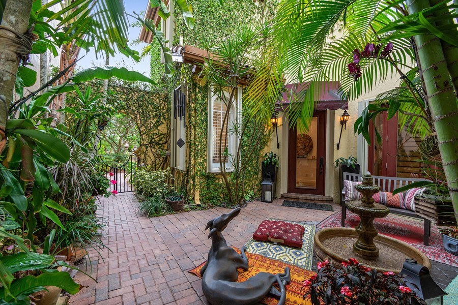 Real Estate Photography - 6609 NW 128 Way, Parkland, FL, 33076 - Courtyard Entrance