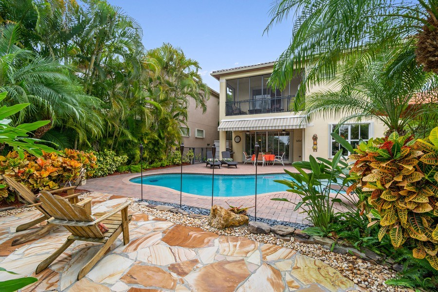 Real Estate Photography - 6609 NW 128 Way, Parkland, FL, 33076 - Rear View