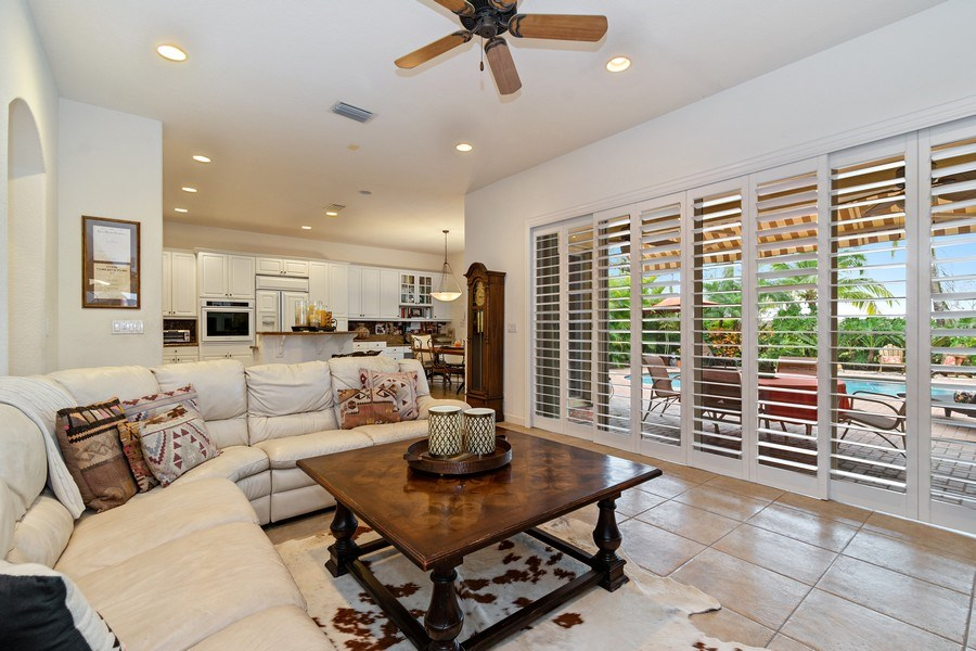 Real Estate Photography - 6609 NW 128 Way, Parkland, FL, 33076 - Family Room / Kitchen