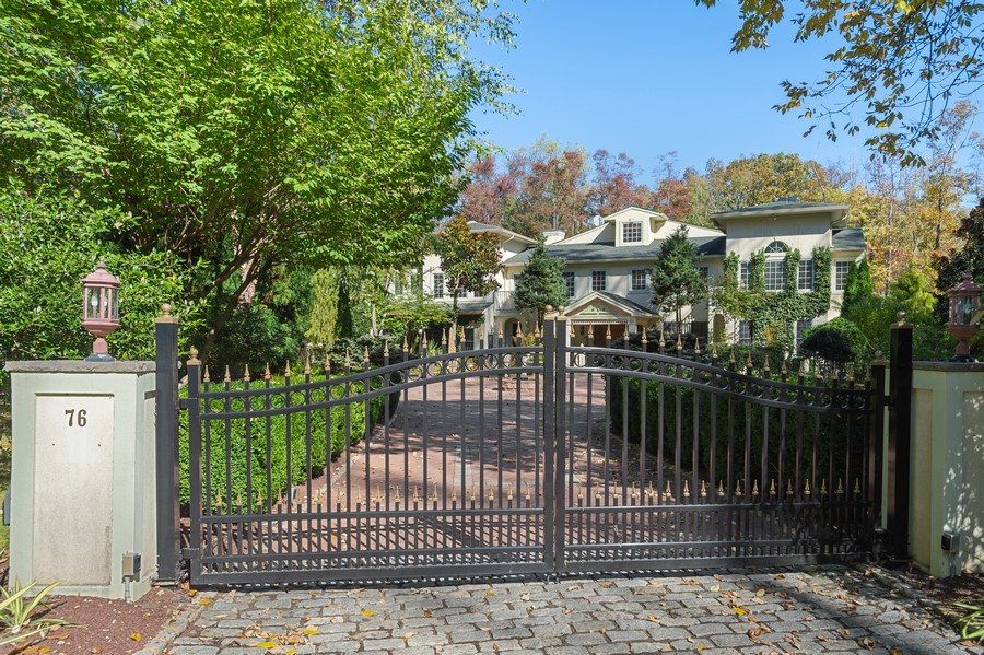 Real Estate Photography - 76 Pettit Pl, Princeton, NJ, 08540 - Grand Gated Entrance