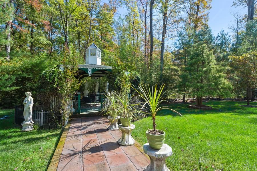 Real Estate Photography - 76 Pettit Pl, Princeton, NJ, 08540 - Rear Yard to Gazebo