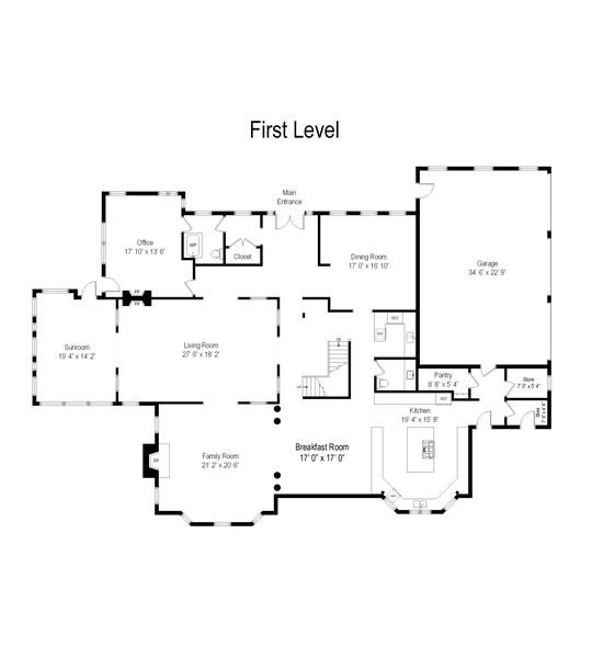Real Estate Photography - 76 Pettit Pl, Princeton, NJ, 08540 - Floor Plan