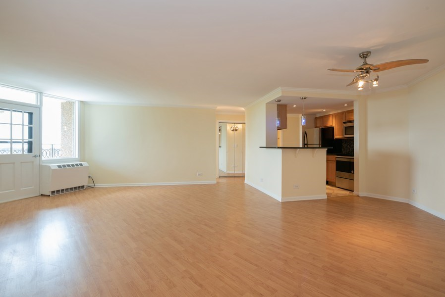 Real Estate Photography - 1 Renaissance Pl, Unit 809, Palatine, IL, 60067 - Living Room