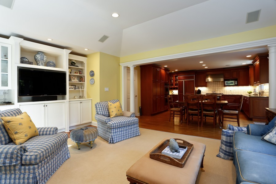 Real Estate Photography - 290 North Street, Rye, NY, 10580 - Family Room / Kitchen