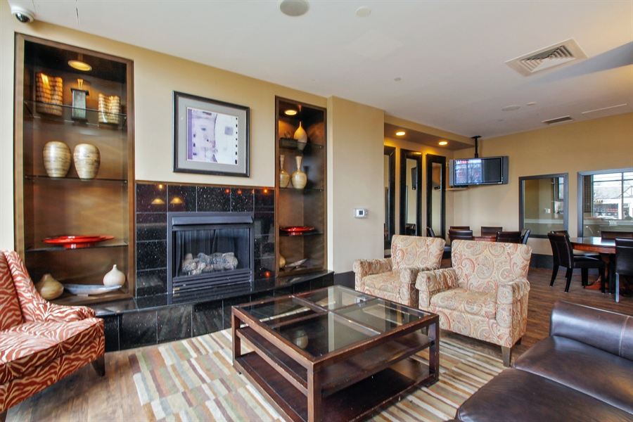 Real Estate Photography - 300 Mamaroneck Avenue #423, White Plains, NY, 10605 - Lounge with fireplace
