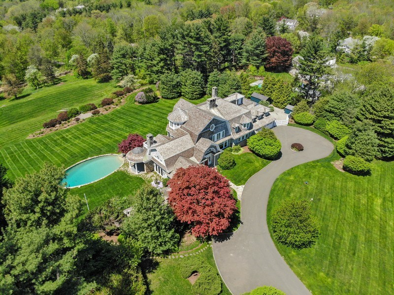 Real Estate Photography - 84 Turtle Back Rd, New Canaan, CT, 06840 - Aerial View