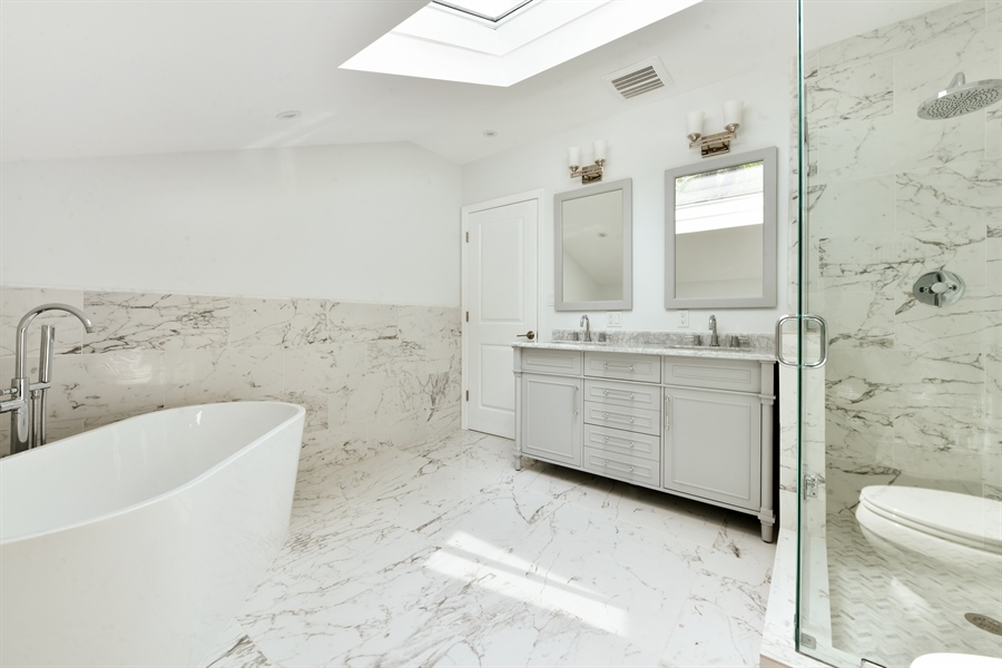 Real Estate Photography - 84 Woodland Rd, Pleasantville, NY, 10570 - Master Bathroom