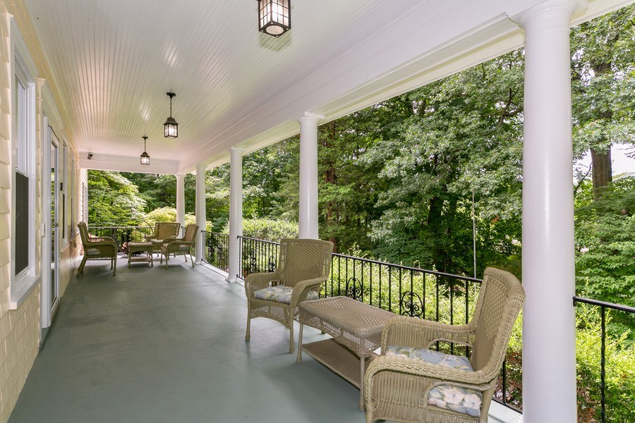 Real Estate Photography - 210 Belmont Rd, Hawthorne, NY, 10532 - Porch
