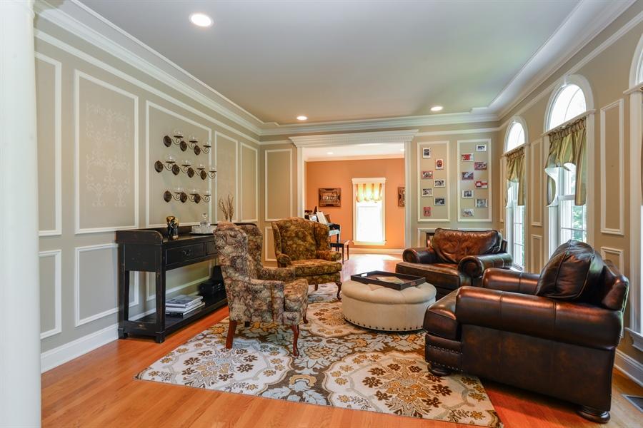 Real Estate Photography - 52 Hog Hill Road, Chappaqua, NY, 10514 - Elegant Living Room w/Adjoining Sitting Room