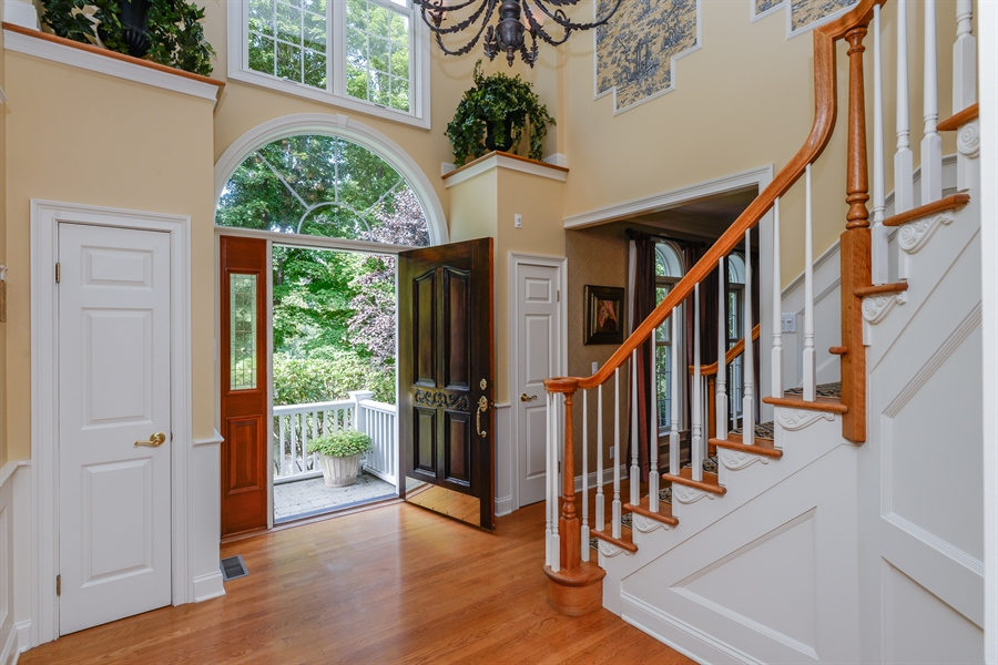 Real Estate Photography - 52 Hog Hill Road, Chappaqua, NY, 10514 - 2-Story Entry Foyer with Grand Staircase