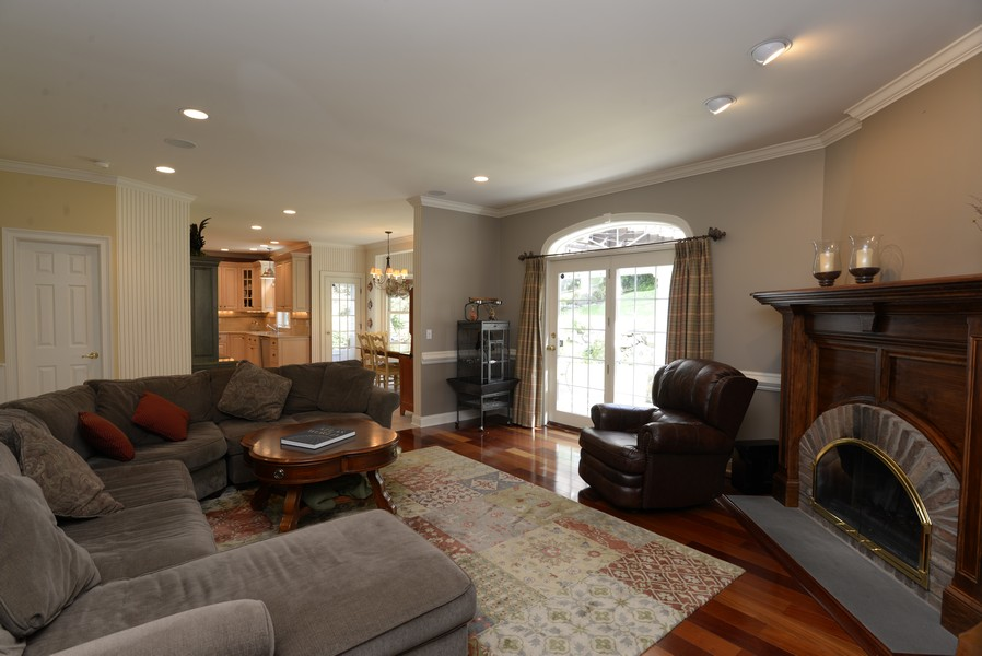 Real Estate Photography - 52 Hog Hill Road, Chappaqua, NY, 10514 - Family Room w/Wood Burning Fireplace