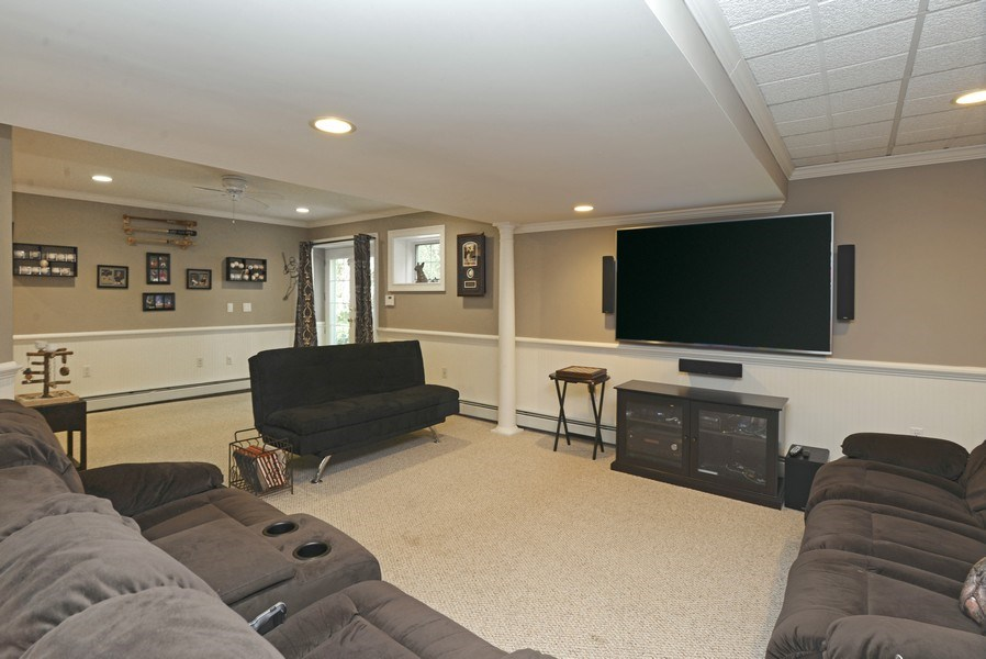 Real Estate Photography - 52 Hog Hill Road, Chappaqua, NY, 10514 - Recreation Room with Doors to Patio