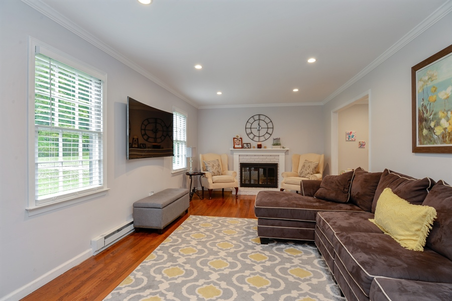 Real Estate Photography - 11 west meadow, Goldens Bridge, NY, 10526 - Living room with fireplace