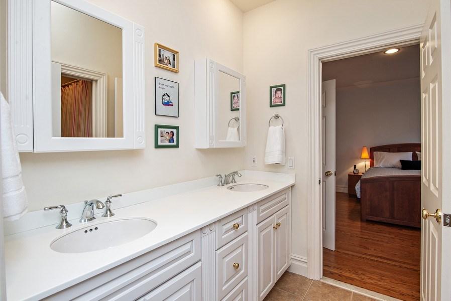 Real Estate Photography - 202 Hirst Rd, Briarcliff Manor, NY, 10510 - Jack & Jill Bathroom