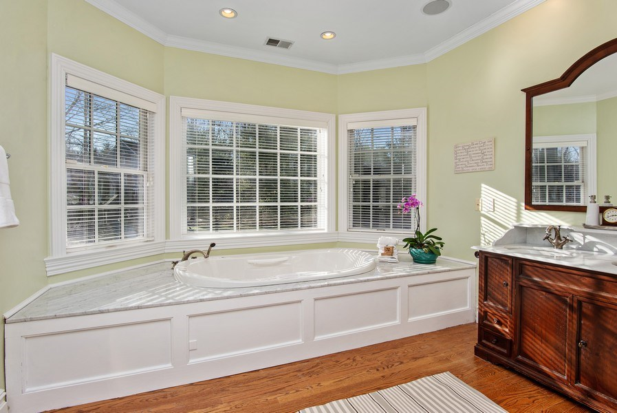 Real Estate Photography - 202 Hirst Rd, Briarcliff Manor, NY, 10510 - Spa-like Master Bathroom/Soaking Tub