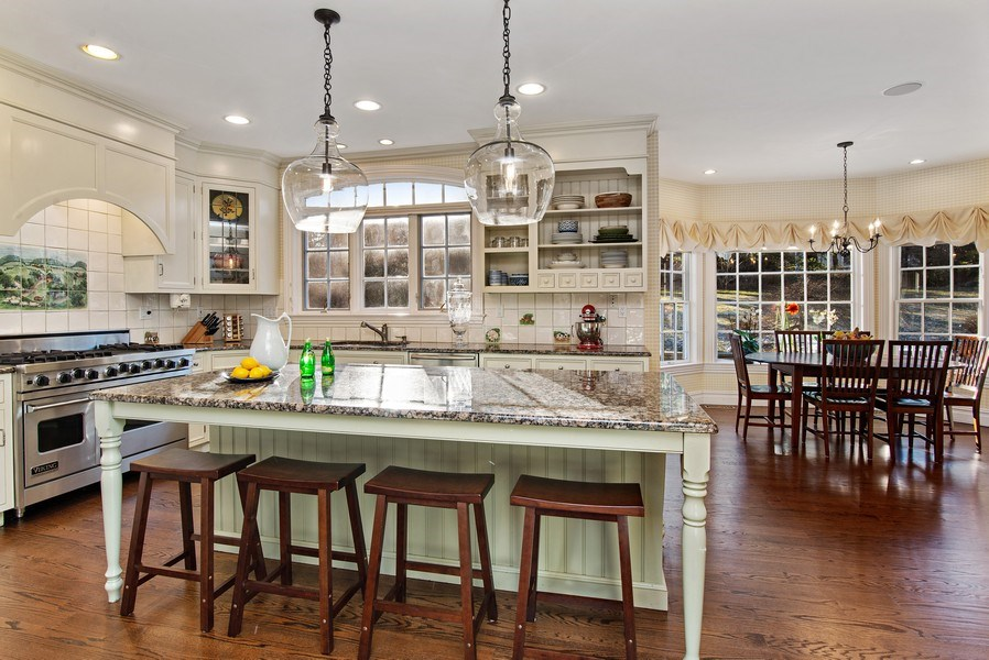 Real Estate Photography - 202 Hirst Rd, Briarcliff Manor, NY, 10510 - Beautiful EIK with Breakfast Bar