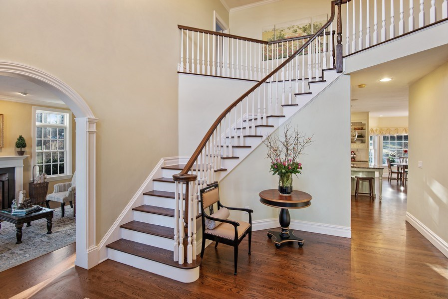 Real Estate Photography - 202 Hirst Rd, Briarcliff Manor, NY, 10510 - Center Foyer with 2-Story Entry & winding staircas