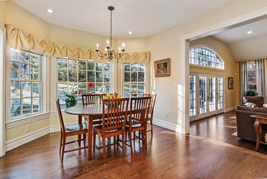 Real Estate Photography - 202 Hirst Rd, Briarcliff Manor, NY, 10510 - Breakfast Area of EIK with view into Family Room