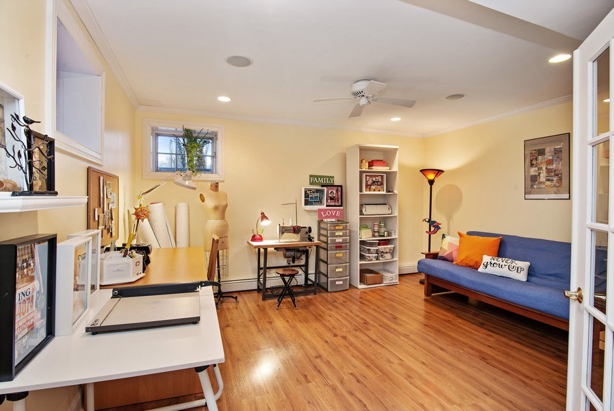 Real Estate Photography - 202 Hirst Rd, Briarcliff Manor, NY, 10510 - Lower Level: Craft Room or Exercise Roomw/Hdwd