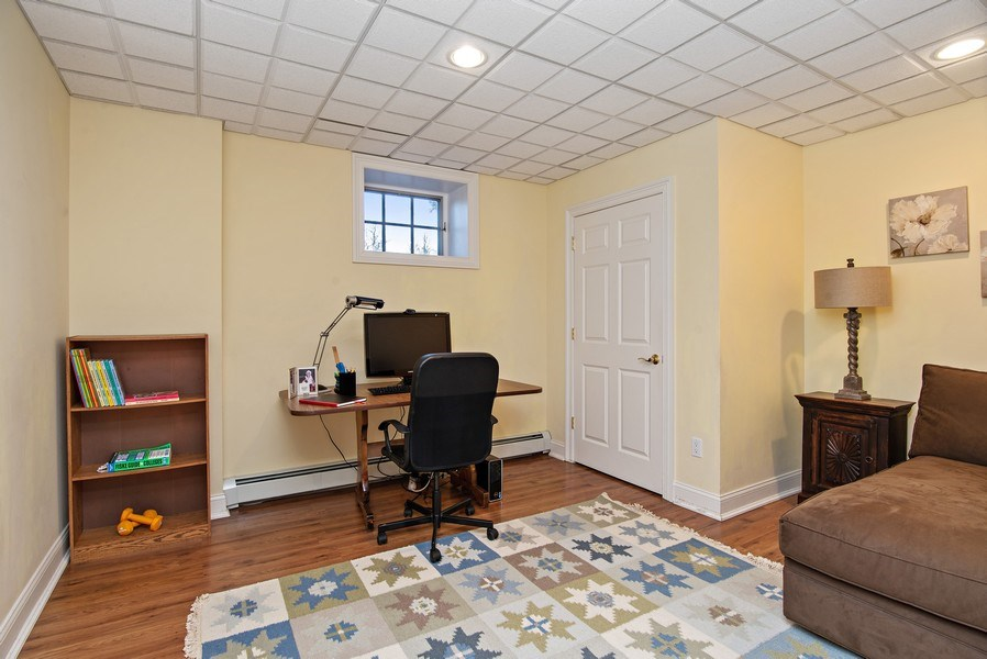 Real Estate Photography - 202 Hirst Rd, Briarcliff Manor, NY, 10510 - Lower Level Study/Guest Room