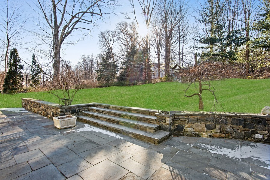 Real Estate Photography - 202 Hirst Rd, Briarcliff Manor, NY, 10510 - Expansive Rear Patio and backyard