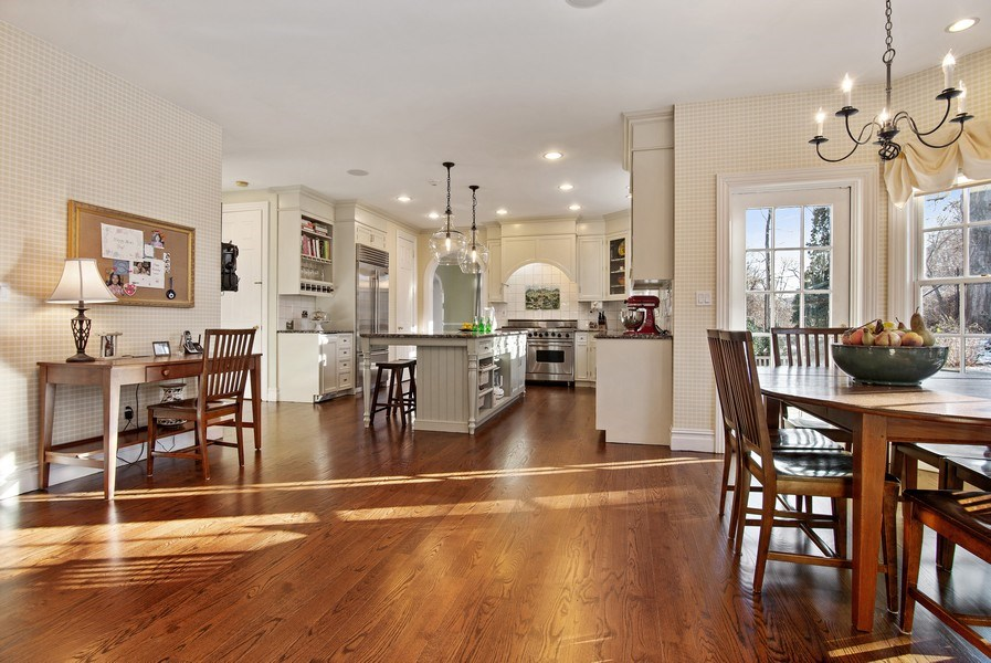 Real Estate Photography - 202 Hirst Rd, Briarcliff Manor, NY, 10510 - Entire EIK w/Sunlit Breakfast Area & Door to Patio