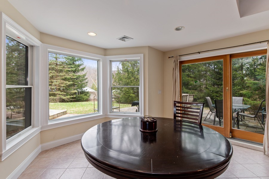 Real Estate Photography - 74 Dogwood Lane, Pleasantville, NY, 10570 - Basement - Play / Recreational Room Sliding Glass