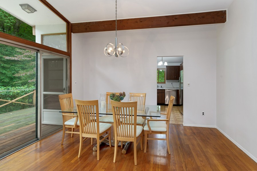 Real Estate Photography - 3 Morningside Ct, Ossining, NY, 10562 - Open Dining Room w/SGD to Deck