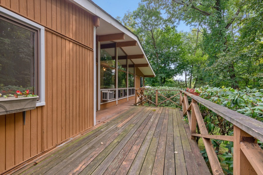 Real Estate Photography - 3 Morningside Ct, Ossining, NY, 10562 - Expansive Rear Deck w/steps down to Backyard
