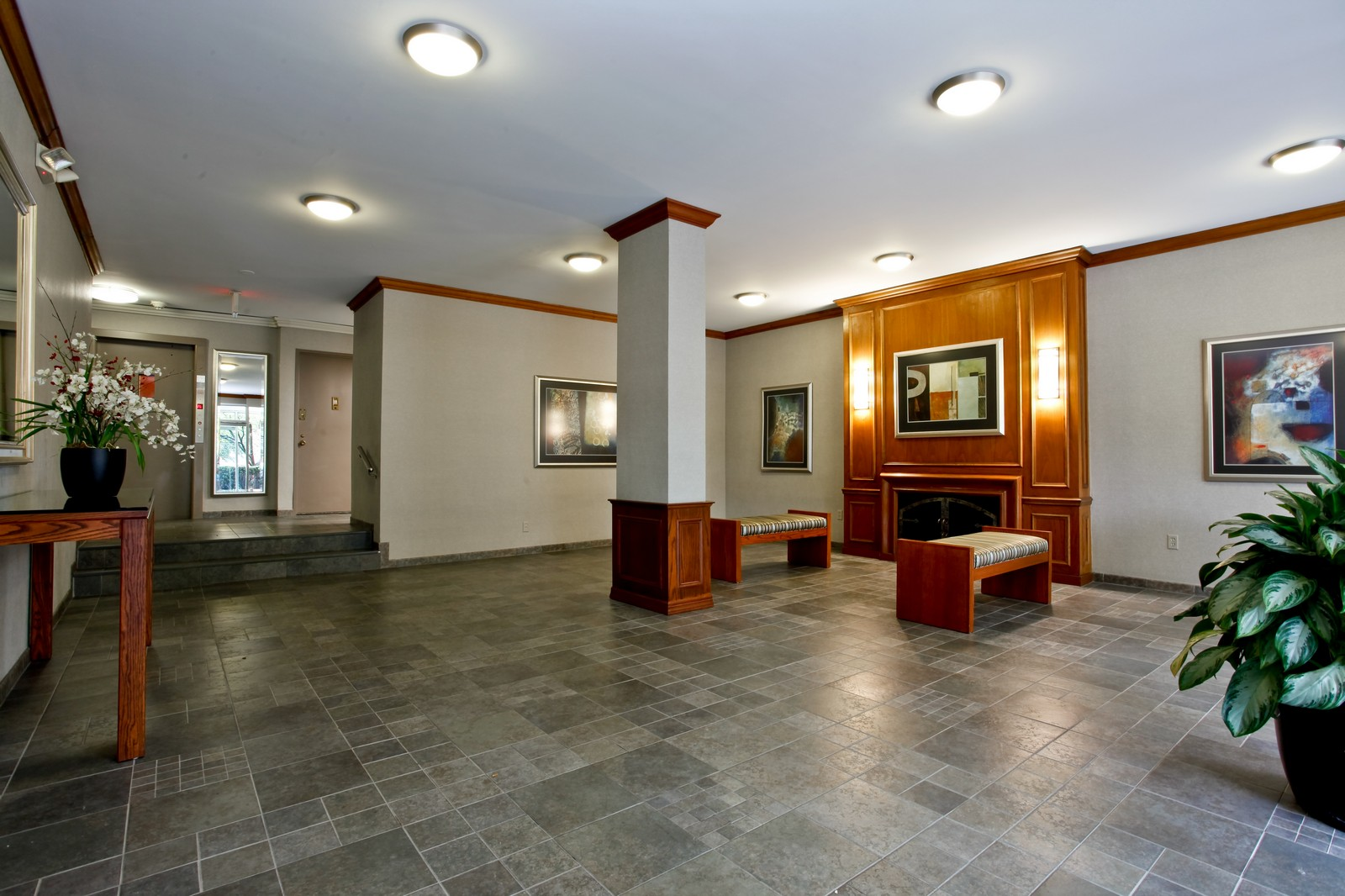 Real Estate Photography - 230 Garth Rd, Apt 2A1, Scarsdale, NY, 10583 - Lobby