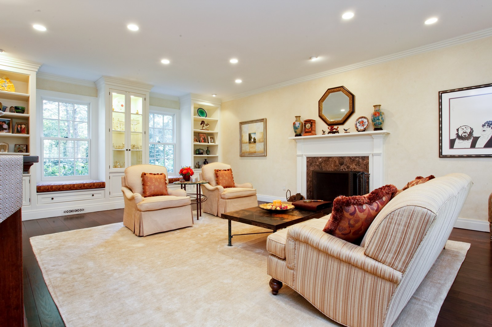 Real Estate Photography - 30 Hadden Rd, Scarsdale, NY, 10583 - Living Room