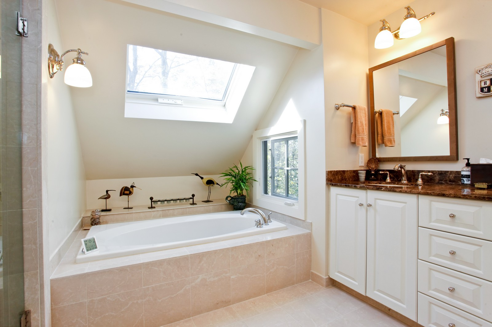 Real Estate Photography - 30 Hadden Rd, Scarsdale, NY, 10583 - Master Bathroom