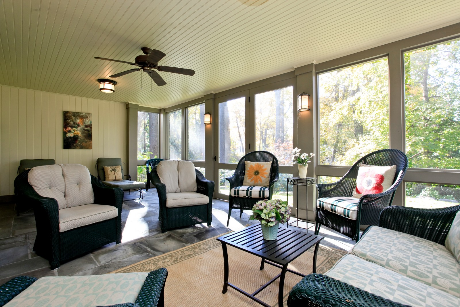 Real Estate Photography - 30 Hadden Rd, Scarsdale, NY, 10583 - Screened Porch