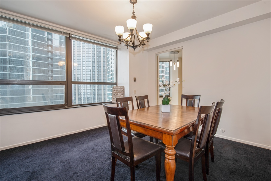 Real Estate Photography - 400 Ohio St, 2004, Chicago, IL, 60654 - Dining Room