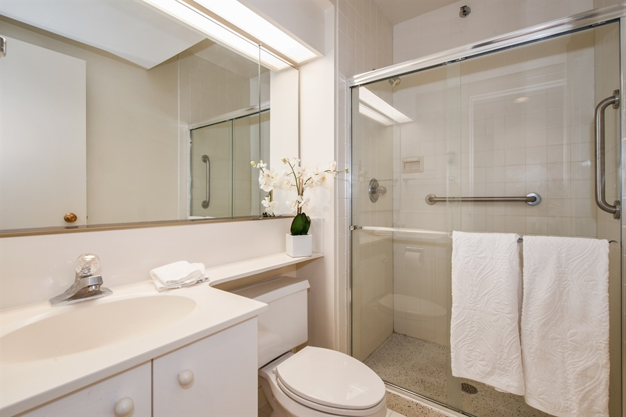 Real Estate Photography - 400 Ohio St, 2004, Chicago, IL, 60654 - 2nd Bathroom