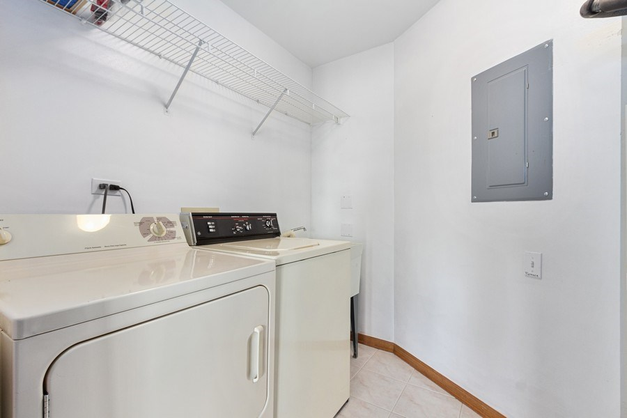 Real Estate Photography - 7775 Bristol Park Dr, Unit 3NW, Tinley Park, IL, 60477 - Laundry Room
