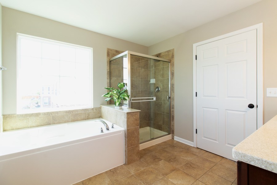 Real Estate Photography - 516 Regal, Bolingbrook, IL, 60490 - Master Bathroom
