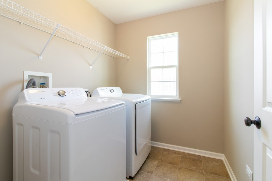 Real Estate Photography - 516 Regal, Bolingbrook, IL, 60490 - Laundry Room