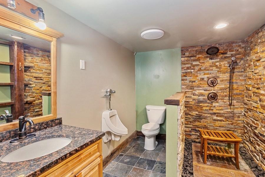 Real Estate Photography - 6N734 Pine st, Bensenville, IL, 60106 - Basement Bathroom