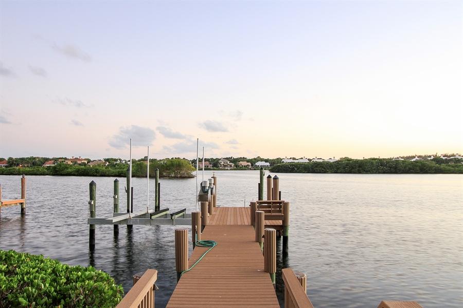 Real Estate Photography - 118 Clipper Lane, Jupiter, FL, 33477 - Dock