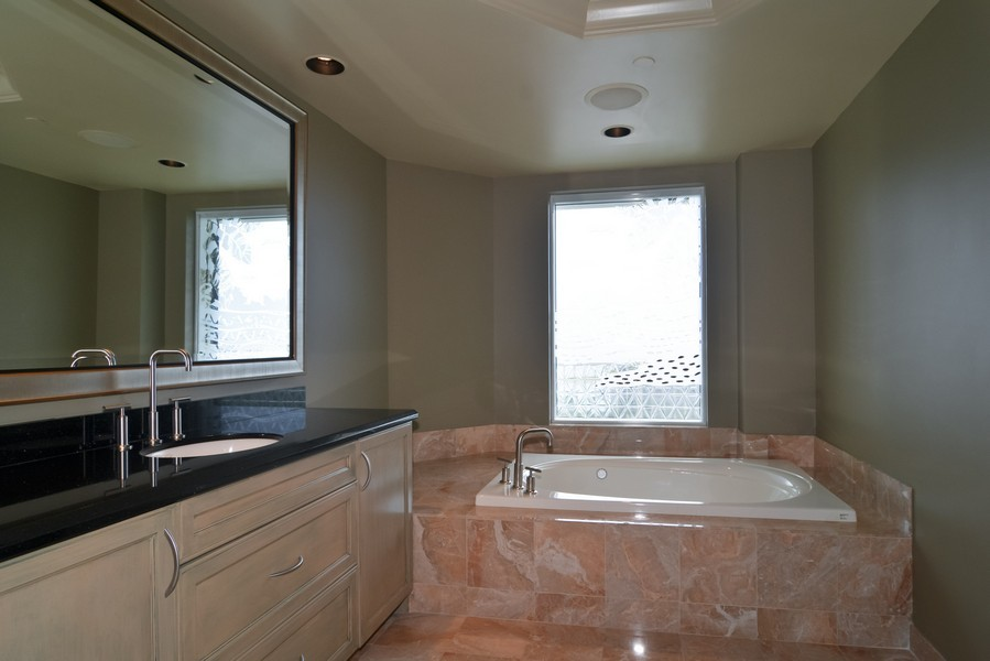 Real Estate Photography - 425 Beach Road, 7-O, Jupiter Island, FL, 33469 - Master Bathroom