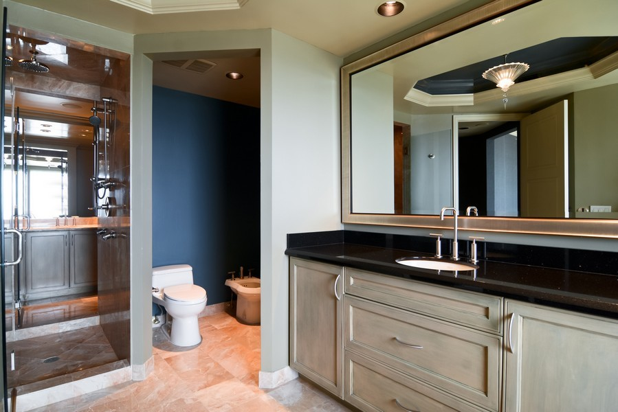 Real Estate Photography - 425 Beach Road, 7-O, Jupiter Island, FL, 33469 - Master Bathroom