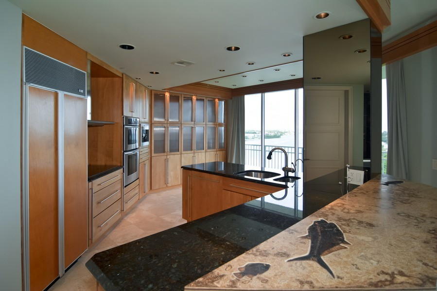 Real Estate Photography - 425 Beach Road, 7-O, Jupiter Island, FL, 33469 - Kitchen